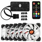 Computer Case PC RGB Cooling Fan Adjust LED 120mm Cooler RemoteControl LoT ST