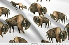 Buffalo Bison Tara Put Native American Fabric Printed by Spoonflower BTY