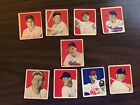 1949 Bowman, Lot Sale, 9 Cards including Lou Boudreau, and George Kell