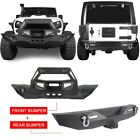 Front Bull Bar Rear Bumper w Winch Plate for Jeep Wrangler JK 07 18Hooke Road
