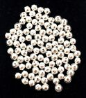Lot of 200 Beads 5mm Sterling Silver for Native American  Southwestern Jewelry