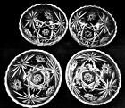 Set of 4 EAPC CEREAL SOUP BOWLS GLASS Star of David Anchor Hocking