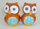 Small and Colorful Magnetic Ceramic Owl Salt Pepper Shakers Cute Birds