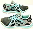 Asics Womens Gray Size 65 Fluid Axis Gel T58BQ Running Shoes Lace Up Sneakers