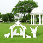 Outdoor Nativity Scene Christmas Large White Home Church Yard Decoration Set NEW