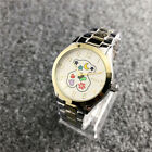 New Stainless steel Quartz Digital Colorful Flower Lovely Teddy Bear Watch