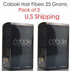 2 Pcs Caboki 25G Hair Building Fibers Black Dark Brown Medium Brown U.S SELLER..