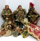 VINTAGE COMPOSITION NATIVITY SCENE FIGURINES BEAUTIFUL CLOTHED LARGE SCALE RARE