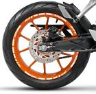 WHITE ORANGE GP STYLE CUSTOM RIM STRIPES WHEEL DECALS TAPE STICKERS KTM Racing
