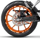 WHITE BLACK GP STYLE CUSTOM RIM STRIPES WHEEL DECALS TAPE STICKERS KTM Racing