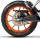 BLACK ORANGE GP STYLE CUSTOM RIM STRIPES WHEEL DECALS TAPE STICKERS KTM Racing