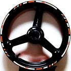 ORANGE WHITE GP STYLE CUSTOM RIM STRIPES WHEEL DECALS TAPE STICKERS KTM Racing