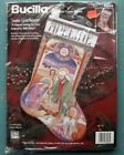 BUCILLA Stained Glass Nativity Counted Cross Stitch 18 Stocking Kit 83438 NEW