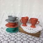 Creamer With Coffee Cups And Saucers