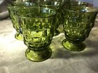 Indiana Colony Whitehall Avocado Green Set of 8 Tea Tumbler Water Glass Goblet