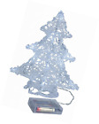 Star 583 18 21 x 25 cm Tree Battery Operated 16 Cool White LED Christmas Clear