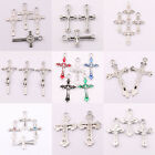 Mixed Tibet Silver Plain Cross Spacer Pendant DIY Making Necklace Jewelry Acces