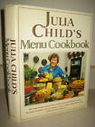 SIGNED Julia Child MENU COOKBOOK 1st Edition 2v in 1 COOKING Illustrated Food