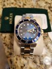 Rolex Watch Men's 40mm Submariner18K Gold and Steel Blue Insert and Dial
