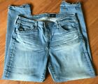 AG ADRIANO GOLDSCHMIED JEANS MID RISE STEVIE CAPRI SLIM STRAIGHT CROP 31 X 24