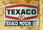 US Seller- wall items Texaco motor oil garage mancave tin metal sign