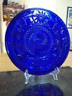 Vintage Cobalt Blue Serving Plate With Rounded Edges Celestial