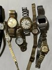 VINTAGE LOT OF 8 MEN & WOMEN WATCHES - FOR REPAIR OR PARTS ONLY