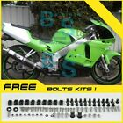 Green Fairing Bodywork Plastic Kit fit Kawasaki ZXR250 1991-1998 6 D3