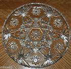 Star Pattern Vintage Pressed Glass Platter 13 1/2