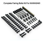 Steel Complete Fairing Bolts Nuts Bodywork Fastener Screws Kit Fit For Kawasaki
