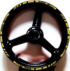 YELLOW BLACK GP STYLE CUSTOM RIM STRIPES WHEEL DECALS TAPE STICKERS SUZUKI SV650