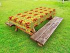 Native Outdoor Picnic Tablecloth Ethnic Tribal Pattern Print 58 X 120 Inches