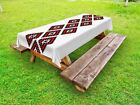 Tribal Outdoor Picnic Tablecloth Native American Pattern Print 58 X 104 Inches