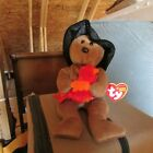 Ty Beanie Babie Plymouth Bear With Turkey Thanksgiving edition. Rare collectible