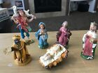 VINTAGE NATIVITY SET SCENE 6 PIECE MADE IN ITALY CHRISTMAS HOLIDAY JESUS BIRTH