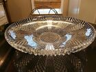 Awesome Huge Antique Patterned Glass Centerpiece Fruit Bowl