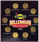 Sunoco Millennium Coin Series Set of 10 Brass Coins, 1999