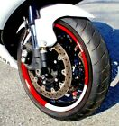 RED WHITE CUSTOM RIM STRIPES WHEEL WRAP DECALS TAPE STICKERS YAMAHA YZF R6 R1 R3