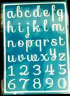 Reusable Self Adhesive Stencil ALPHABET  NUMBERS Sticky Scrapbooking Craft Art