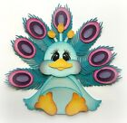 PREMADE STUFFY PEACOCK ZOO ANIMAL 3D DIE CUT PAPER PIECING MY TEAR BEARS KIRA