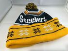 Pittsburgh steelers nfl cuffed pom knit beanie cap hat forever collectibles