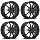 4x Vision 16 425 Bane Wheels Matte Black 16x7 5x112 5x45 5x1143 +48mm 59