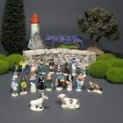 Vintage French Provence Feves Miniature Creche Santons Nativity Figurines 20 pcs