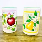 VTG Himark Ceramic Salt and Pepper Shakers With Pictures Of Fruit Apple And Pear