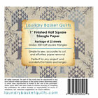 LAUNDRY BASKET QUILTS 1 TRIANGLE PAPER HALF SQUARE TRIANGLES FITS 5 IN CHARM