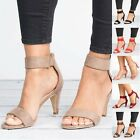 Womens Mid Low Block Heel Sandals Ankle Strap Work Smart Summer Shoes Size 9 10
