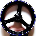 WHIT BLUE CUSTOM GP RIM STRIPES WHEEL DECALS TAPE STICKERS SUZUKI GSX-S 750 1000