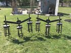 VINTAGE GOTHIC CHURCH WALL SCONCES MATCHING PAIR LARGE UNDERWRITER LABORATORIES