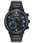 New Citizen Eco Drive GPS Wave World Time Stainless Steel Men's Watch CC3038-51E