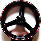 3M REFLECTIVE RED GP CUSTOM RIM STRIPES WHEEL DECALS TAPE STICKERS YAMAHA YZF R6